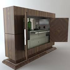 Wine Bar Cabinet Bar 3d Model