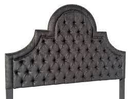 king size upholstered headboard with nails gray velvet extra tall
