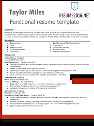 functional resume template administrative assistant resume functional resume template download