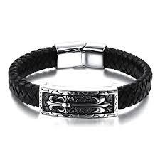 stainless mens bracelet images Steel leather celtic mens bracelet jpg
