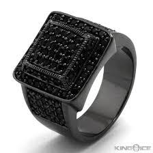 all black rings images Black diamond pinky ring for men diamondstud jpg