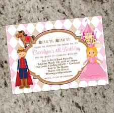 Princess Themed Invitation Card Princess And Prince Birthday Party Invitations Calling All