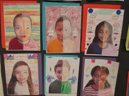 math meets art symmetry self portraits scholastic