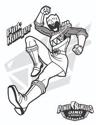 power rangers coloring pages in pink power ranger coloring pages