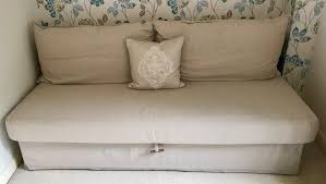 himmene sleeper sofa lofallet beige ikea himmene three seat sofa bed nearly new in hshire gumtree