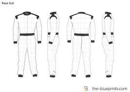 Racing Suit Template race suit vector drawing