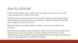 format artikel yang benar menulis karya ilmiah judul abstrak kata kunci ppt download