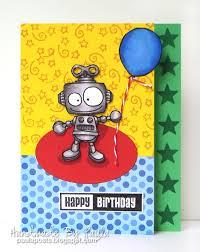 46 best handmade robot greeting cards images on pinterest