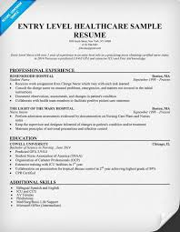 gallery of entry level healthcare resume example student health