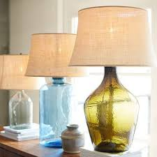 Blue Glass Table Lamp Shop Glass Base Table Lamps On Wanelo