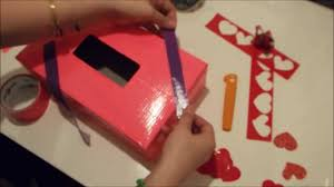 Valentine Shoe Box Decorating Ideas Valentines Box Tutorial Diy Duct Tape Holder Youtube
