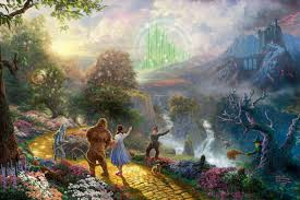 dorothy discovers the emerald city kinkade oil paintings art print