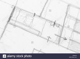 Drawing House Plans Free by Architect Hand Drawing House Plan Sketch With Pencil Stock Photo