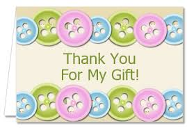 thank you baby shower cards baby shower thank you cards as a button thank you notes