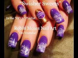 purple swisher sweet nails marijuana manicure nail art design