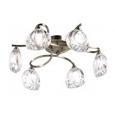 melody 6ab melody 6 light ceiling light in antique brass finish