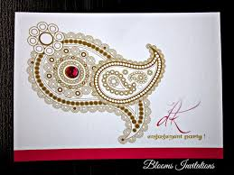 indian engagement invitation cards with stamps and dies