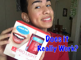 how to use teeth whitening kit with light luster pro light review youtube