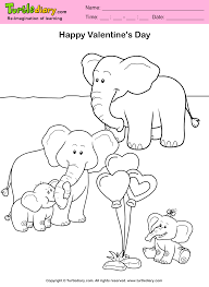 elephants valentine coloring sheet turtle diary