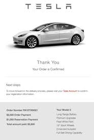 my maxed out model 3 order for my gf delivers in less than 4