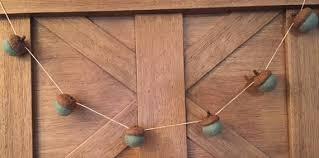 felted wool acorn garland felt acorns on hemp string set