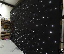 wedding backdrop ebay 20ftx10ft black led wedding starlight backdrop curtain for sale