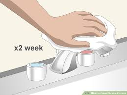 3 Ways To Clean Chrome Fixtures Wikihow Clean Chrome Bathroom Fixtures