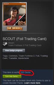 steam trading cards what defines an item s value in gems arqade