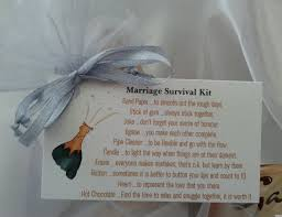 wedding gift kits bag of bits marriage survival kit by cheerupcrafts