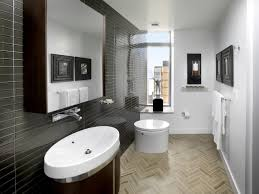 small apartment bathroom decorating ideas brown mirror frame metal