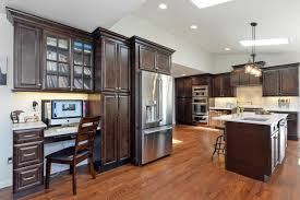 Espresso Kitchen Island by Black Kitchen Cabinet And Kitchen Island With Bianco Antico