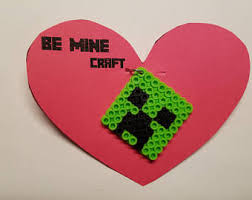 minecraft valentines minecraft etsy