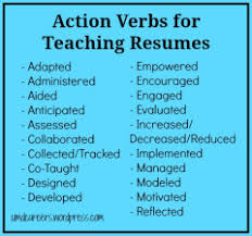 words to use on a teaching resume other than u201ctaught u201d u2013 peer into