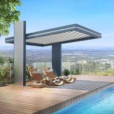 Pergola Material List by Wall Mounted Pergola Self Supporting Aluminum With Mobile