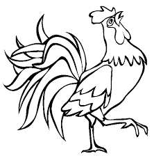 rooster farm animal coloring pages animal coloring pages of