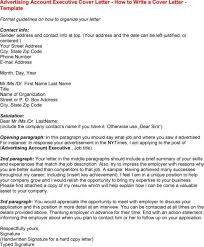 advertising executive cover letter