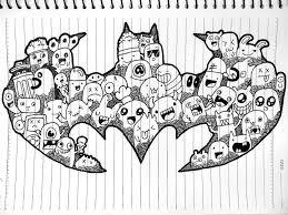 drawn batman doodle pencil color drawn batman doodle