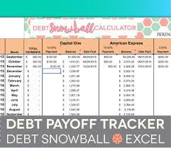 Debt Payoff Spreadsheet Excel Debt Payoff Spreadsheet Debt Snowball Excel Credit Card