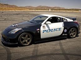 nissan sport car police sport car on a track nissan 350z