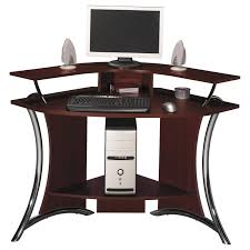 Diy Corner Computer Desk Plans Small Corner Computer Desk Ideas Using Iron Legs Simple