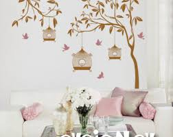 hanging vines wall decal for baby nursery with flowers