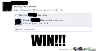 Funny Nokia Memes - nokia win by iamdannye meme center