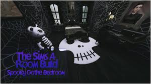 goth bedrooms the sims 4 room build spooky goth bedroom youtube
