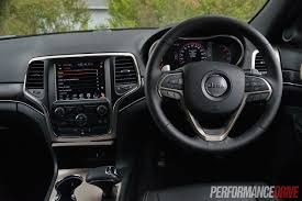 2017 jeep grand cherokee dashboard 2014 jeep grand cherokee limited v6 review video performancedrive