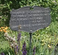 garden plaque beautiful garden poem