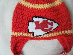 crocheted chiefs inspired team colors choose your team football