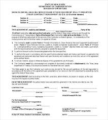 snow plowing contract template 20 free word pdf self employed