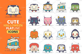 cute halloween cartoons halloween characters and objects stock illustration image 57878798
