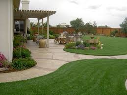 simple backyard patio with bricks stone floor and fences also