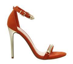 office phantom high heel sandals orange high heels